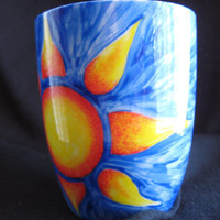 Hand Painted Sunshine Coffee Mug by Finspired on Etsy