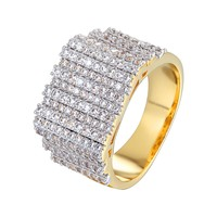 Men's  Designer Solitaire Bars Wedding Ring