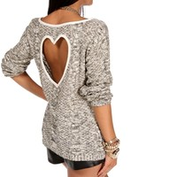 IvoryBlack Heart Back Sweater