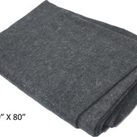 60 X 80 Inch Emergency Blanket With 50 Percent Wool & Synthetic Fabrics :  ( Pack of  2 Pcs )