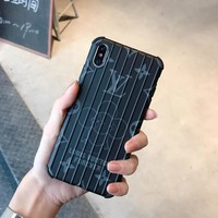 LV x Forever Suitcase Style Protective Phone Case - Black