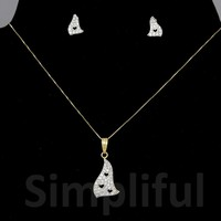 Melted Hearts Pendant & Earring Set