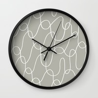 squiggly Wall Clock by Pink Berry Patterns