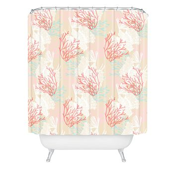 Aimee St Hill Tiger Fish Pink Shower Curtain