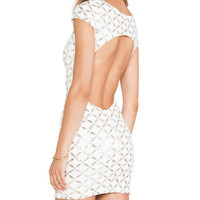 DRESS THE POPULATION Gabriella Dress in White