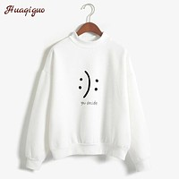 New YOU DECIDE Hoodie Sweatshirt Women Autumn Winter Long-Sleeved Fleece Hoodies Fashion Harajuku Print Pullovers