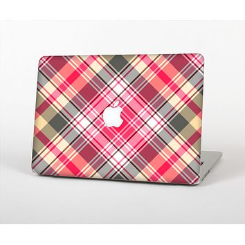 """The Pink & Tan Plaid Layered Pattern V5 Skin for the Apple MacBook Air 13"""""""