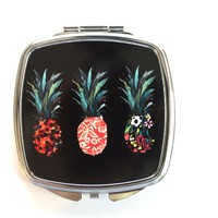 Patterned Pineapples Compact Mirror