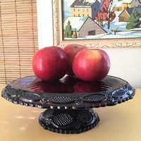 Ruby Red Glassware Cake Plate, Avon Red Glass Bridal Tea Cupcake Stand,  Red Cake Stand, Christmas Centerpiece Decoration