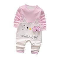 Baby Rompers Spring Baby Girls Clothing Cartoon born Baby Clothes Long Sleeve Baby Boys Clothes Infant Jumpsuits