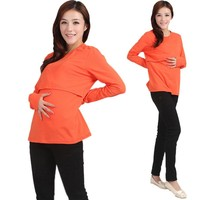 Maternity Clothes for Breastfeeding Long Sleeve