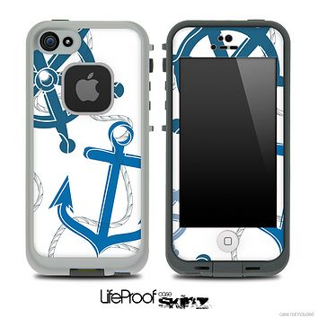 Nautical Anchor Collage Skin for the iPhone 5 or 4/4s LifeProof Case