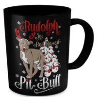 Rudolph The Red Nosed Pit Bull