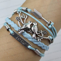 Arrows bracelet, bracelet bird lovers hand and love - the most charming gift for girls and boys