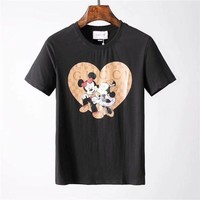 "2018 Gucci-The new ""Gucci"" Men's short sleeve T-shirt, the upper body effect is super, fashion hundred simple short sleeve ღ 003"