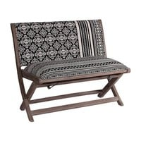 Boho Tribal Pattern Foldable Upholstered Bench