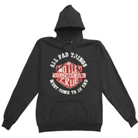 Motley Crue Women's  Bad Boys Shield Girls Jr Hooded Sweatshirt Black