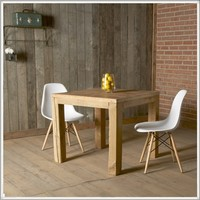 Solid Reclaimed Wood Parsons Table   Modern Farmhouse Furniture