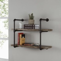 Danya B. Two-tier Industrial Pipe Wall Shelf   Overstock.com Shopping - The Best Deals on Accent Pieces