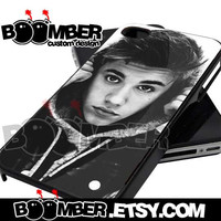 Justin Bieber With Hoodie - iPhone 4/4s/5/5s/5c Case - Samsung Galaxy S2 i9100/S3 i9300/S4 i9500 Case