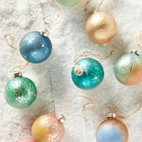 Dip-Dyed Ornament Set by Anthropologie in Multi Size: Set Of 9 House & Home