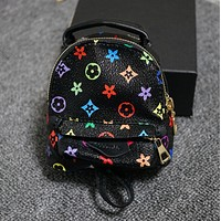 Fashion print mini wallet key bag Black