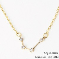 Aquarius Constellation Zodiac Necklace - As seen in Real Simple, People Magazine & more!