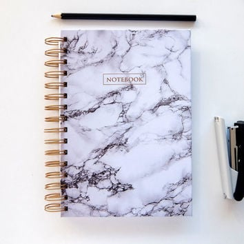 Marble Notebook - Marble - Notebook - Bullet journal - Handmade - Journal - Diary - Planner - Sketchbook - Gift for friend