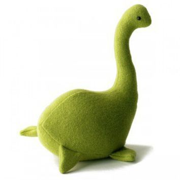 ShanaLogic.com - 100% Handmade & Independent Design! Nessie, The Loch Ness Monster - Lime Green - Collectable Plushes