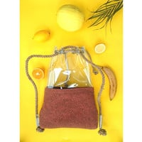Foxy Bucket bag, shoulder bag, backpack bucket bag,felt drawstring bag, ginger bag,hobo tote bag, felt shoulder bag, clear backpack, russet