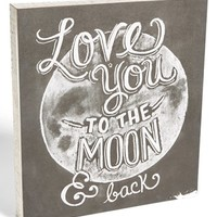 Primitives by Kathy 'Love You To The Moon' Box Sign