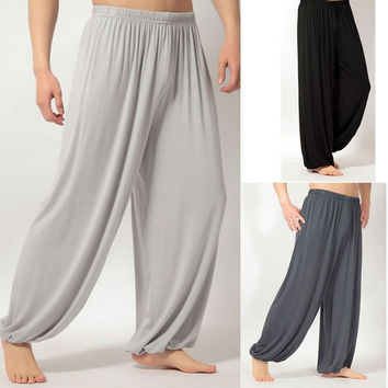 Yoga pants Loose Modal bloomers pants home tai chi harem joggers sweat Pants both men and women = 1933220740