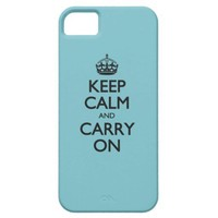 Blue Curacao Keep Calm And Carry On iPhone 5 Cases