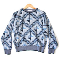 Trippy Blue Godseyes Cosby / Golf Ugly Sweater - The Ugly Sweater Shop