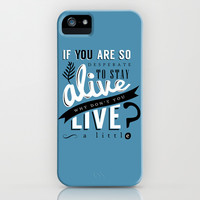 Doctor Who quote iPhone & iPod Case by Marta Lemon