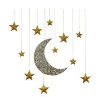 Moon And Stars Hanging Decoration