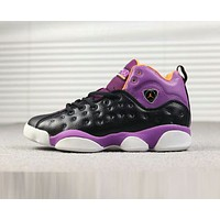 NIKE Jordan Jumpman Team AJ13 Trending Women Stylish Basketball Shoes Sport Sneakers Purple I-A-FJGJXMY