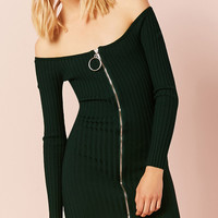 Oversized Pull Ring Mini Dress