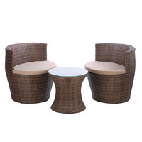 Contemporary Wicker Outdoor Patio Set