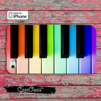 Colorful Piano keys cute funny iPhone 4 and 4s Case and Custom iPhone 5 and 5s and 5c Case