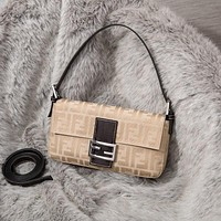 FENDI FF Retro Canvas Hobo bag