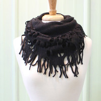Just Fringy Infinity Scarf {Black}