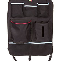 """Car Backseat Organizer, Removable Trash Can Pocket, Reversible Kick Mat, Covers Large Seats 19"""" x 23"""" a perfect road trip gift"""