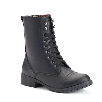 Women's Rocker Boots Lace Up Combat