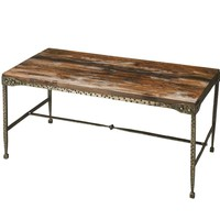 Transitional Rectangular Cocktail Table Multi-Color