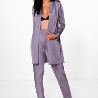 Jessica Slinky Tapered Trouser & Duster Co-Ord | Boohoo