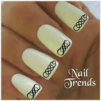 Infinity Nail Decals Double Infinity  20 Vinyl Stickers Nail Art