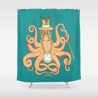 Steam Punk Octopus Shower Curtain by J&C Creations