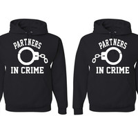 Partners In Crime Couple Matching Hoodies
