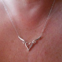 Sterling Silver Necklace Wings Necklace
